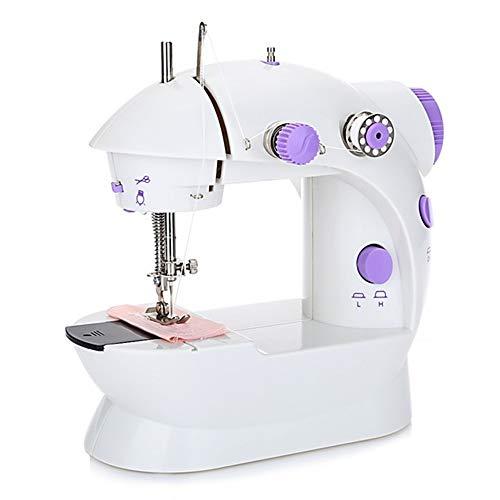 Home Naaimachine, Mini Elektrische Draagbare Naaimachine Verstelbare 2-Speed Met Voetpedaal Voor Kids Volwassen Beginners