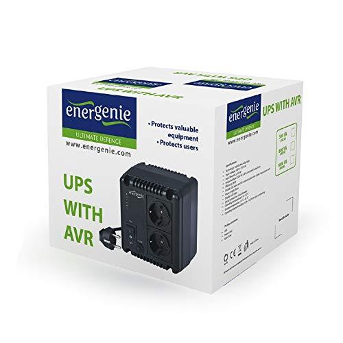 EnerGenie EG-AVR-0501 Adaptador e inversor de Corriente Interior 300 W Negro - Fuente de alimentación (Interior, 140-270 V, 50 Hz, 300 W, 220 V, 50 Hz)