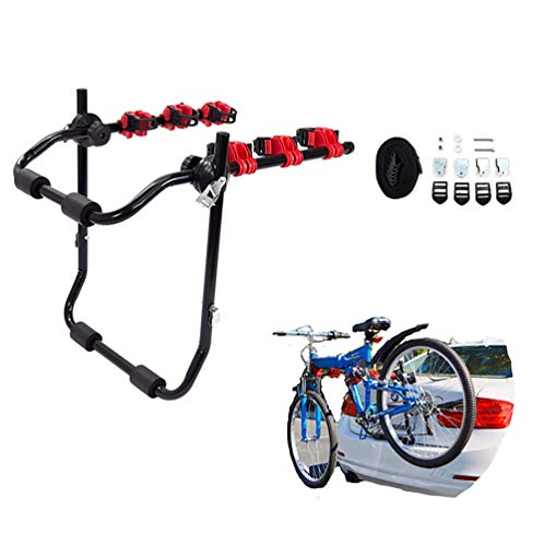 Yajun Portabicicletas Trasero 3 Bike Car Towbar Portador De Bicicleta Soporte De Montaje En Maletero Hatchback De Servicio Pesado para SUV Car 73 * 50cm
