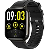 Smart Watch, AGPTEK 1.69'(43mm) Smartwatch for Android and iOS Phones IP68 Waterproof Fitness Tracker Watch Heart Rate Monitor Pedometer Sleep Monitor for Men Women Black, LW31