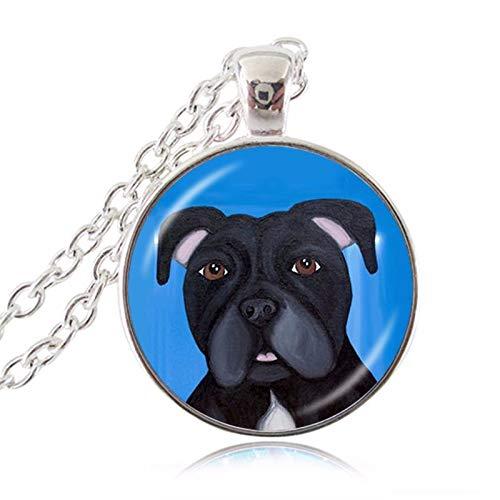 Süßer Bull Terrier American Pit Bulldog Haustier Welpen Rettungszubehör Anhänger Schmuck Tierpaar Bulldogge