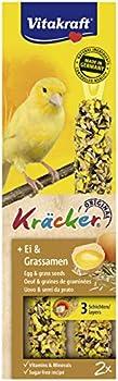Vitakraft Kräcker Œuf Graines de Graminée Canaris - Lot de 10 Paquets de 2 Kräckers