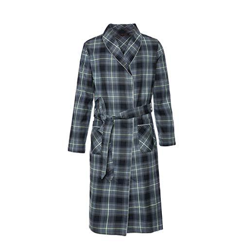 WXIANG Accappatoi Accappatoio Uomo Kimono Scialle Spa Robe Robe Lussuoso Pigiama Lungo Paragrafo Robe Robe Calore...