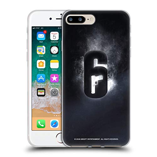 Head Case Designs Officially Licensed Tom Clancy's Rainbow Six Siege Glow Logos Soft Gel Case Compatible with Apple iPhone 7 Plus/iPhone 8 Plus