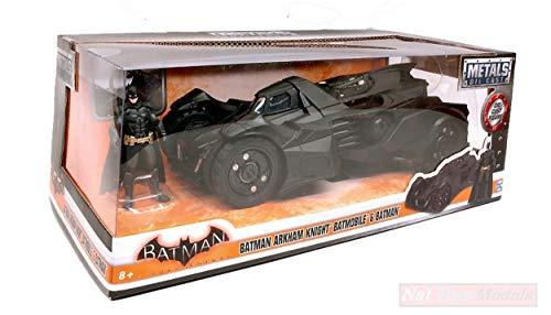 Jada Toys JADA98037 Batmobile Arkham Knight & Figure 1:24 MODELLINO DIE CAST kompatibel mit