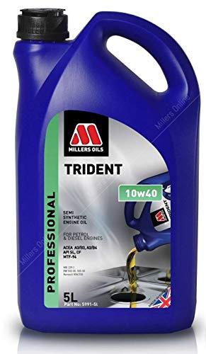Millers Oils Trident 10w40 A3/B4 semi-synthetische motorolie, 5 liter