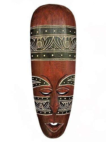 All Seas Imports Gorgeous Unique Hand Chiseled Wood African Style Wall Decor Mask