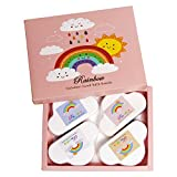 Rainbow Bath Bombs for Kids Cloud,Magic Rainbow Cloud Bath Bombs for Kids Women,Bubble Making Bathbombs Suitable for Everyone, Gift idea for Birthday Valentines Anniversar(4pcs)