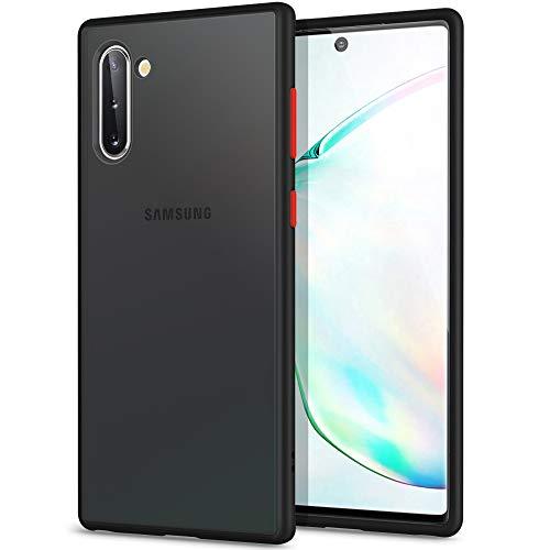 YATWIN Kompatibel mit Samsung Galaxy Note 10 Plus Hülle, [Shockproof Style] Matte Oberfläche Translucent PC Rückschale, TPU Weiche Rahmen Handyhülle für Samsung Note 10 + 5G - 6,8 Zoll, Schwarz