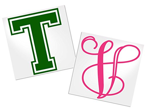 Single Letter Decal for Tumbler, Your Choice of Color & Style | Decals by ADavis