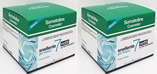 Somatoline Snellente Gel Fresco 7 Notti 400 ml - due confezioni