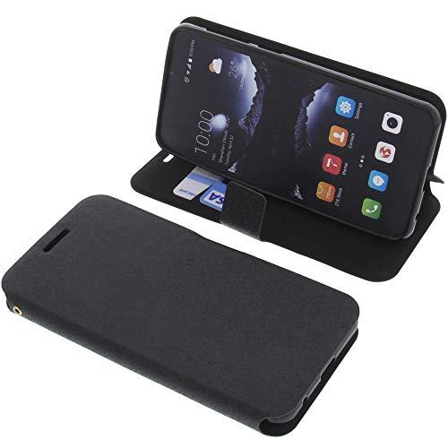 foto-kontor Tasche für ZTE Blade A530 Book Style schwarz Schutz Hülle Buch