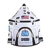 JOYIN Rocket Ship Play Tent Pop up Play Tent Kids Indoor Outdoor Spaceship Playhouse Tent Set