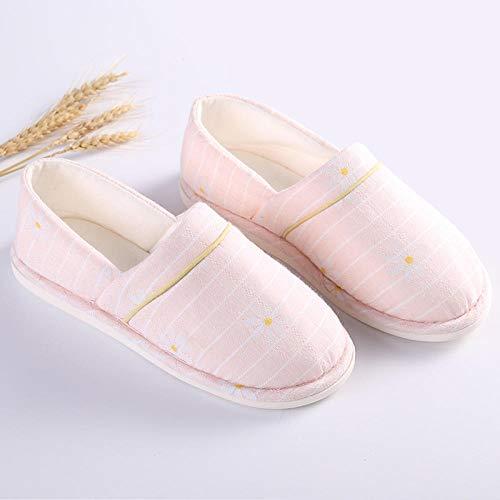 Diabetische pantoffels voor heren met traagschuim,Dunne sectie met antislip schoenen, zachte onderkant moederschap pantoffels-35_Tender roze madeliefjes,Plantar Fasciitis sneakers Air Shoe
