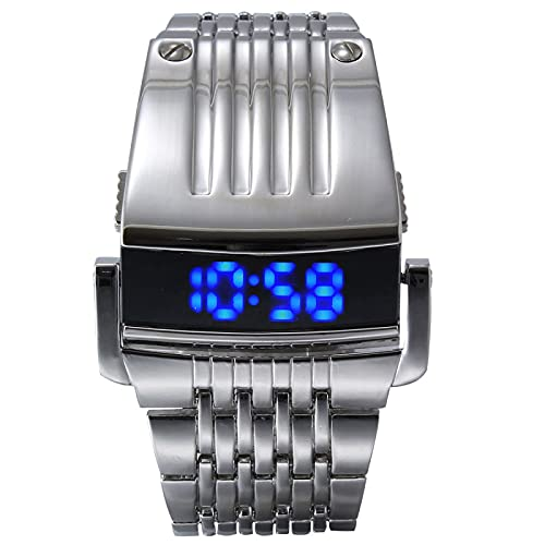 Relojes Reloj Deportivo Digital De Moda para Hombre, Reloj Militar De Lujo para Hombre, Reloj De Pulsera De Acero Completo para Hombre, Su