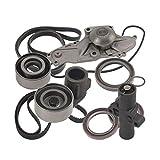 HZYCKJ Timing Belt Tensioner Kit Crankshaft Seal Steering Belt Compatible for Honda Acura Aisin Mitsuboshi 6 Cylinder 3.2L 3.5L 3.7L OEM # 19200-RDV-J01 14400-RCA-A01