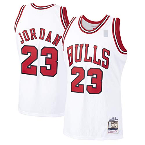 Blanco -Camiseta de Baloncesto Jersey Chicago Custom Bulls Bordado Michael Poliéster #23 Hardwood Classics Player Jersey Icon Edition-XXL