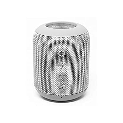 Roxel RXB-360BT Bluetooth Wireless Portable Travel Speaker with Extra Bass for IOS, Android and Computers with Water Resistant Technology. Hands-Free Calls. Indoor or Outdoor Speaker (Grey) by Roxel