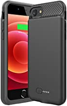 Battery Case for iPhone 8/7/6s/6/SE 2020,6000mAh Ultra Slim iPhone Charging Case Full Protection Portable Rechargeable Battery Pack Extended Charger Case for iPhone 8/7/6s/6/SE(2020)-4.7inch
