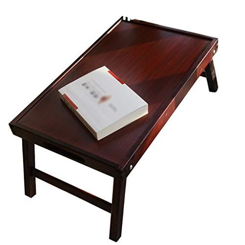 QFF-Bureau d'ordinateur Plateau en bois massif, chambre à coucher salon table à thé table d'ordinateur portable table de salle à manger pliable table de balcon balcon table carrée Table de travail