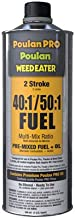 Poulan Pro Case of 12, QT, 40:1/50:1, 92 Octane Premix 2 Stroke Fuel & Oil, Ready to Use.