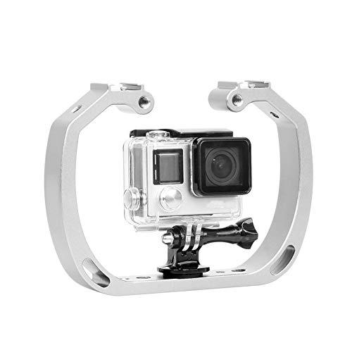 NBSXR Dubbele Arm Handheld Ondersteuning Stabilizer, met 1/4 Schroef + Polsband, Perfect Scuba Gear GoPro Accessoire, voor GoPro Hero Xiaomi Yi Sport Camera