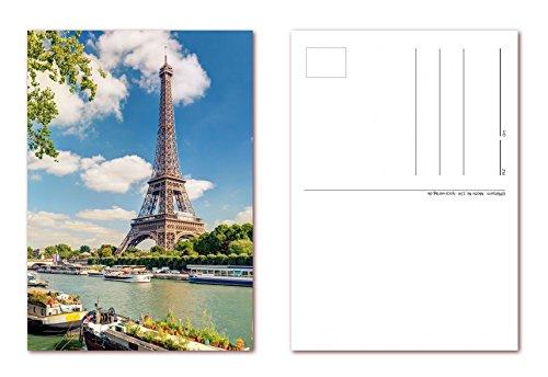 12 Stück Postkarten Eiffelturm in Paris Frankreich, Ansichtskarten im DIN A6 Format ( PKT-134 )