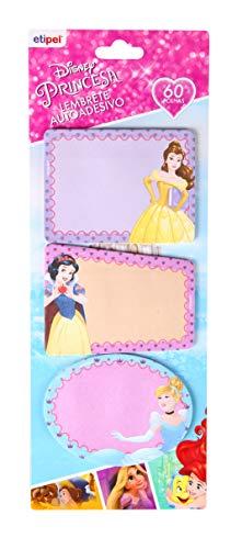 Bloco Notas Adesiva 3Unidades Princesas, Etipel, Bloco Notas Adesiva 3Unidades Princesas Dyp-304, Estampa Princesas, Dyp-304, Pacote De 3