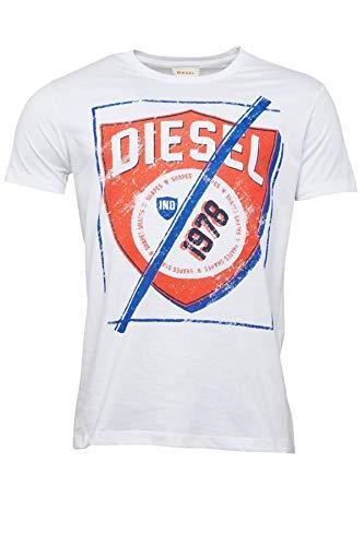 Diesel - Camiseta - para hombre blanco XL