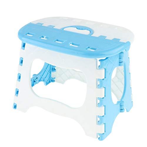 MagiDeal Taburete Plegable Plástico Portátil del Paso del Taburete de La Cocina del Cuarto de Baño Que Acampa - Azul, Individual