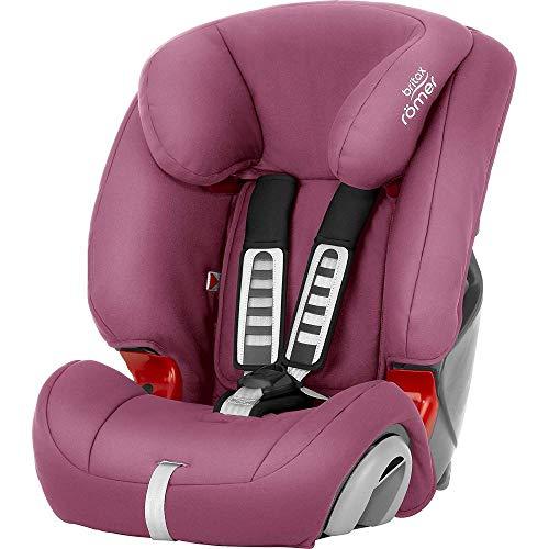Britax Römer Kindersitz 9 Monate - 12 Jahre I 9 - 36 kg I EVOLVA 123 Autositz Gruppe 1/2/3 I Wine Rose