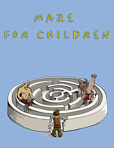 Maze For Children: Brain Teasers Paper Blank Notebook Journal 8.5x11' 150 Pages | This Book Is Inspired By Mind Sport