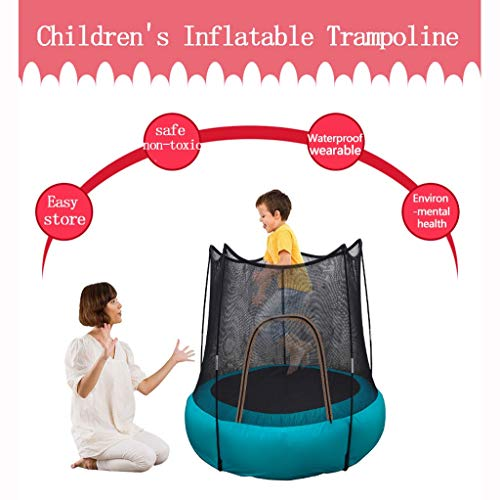 Nepdome Mini Kids Trampoline with Enclosure Net Jumping Mat and Spring Cover Padding Safety Jumping Indoor Fitness Rebounder Bed Outdoor Exercise Toys Best Gifts for Boys Girls (Blue)