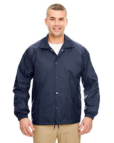 UltraClub mens Nylon Coaches' Jacket(8944)-NAVY-L