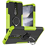 BRAND SET Case for Nokia 2.4 with Metal Ring Holder, 2-in-1
