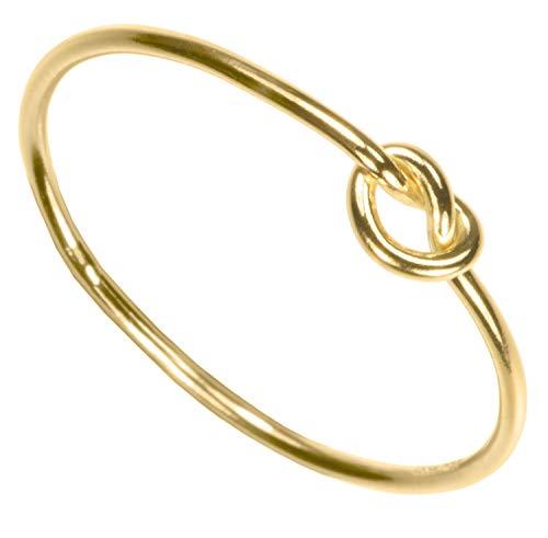 uGems 14K Gold Filled Love Knot Ring Size 8