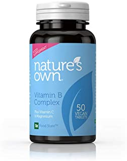 Natures Own B Vitamins Vitamin B Complex + Vitamin C (Euro Formula). 50 pestañas (Green Lid)