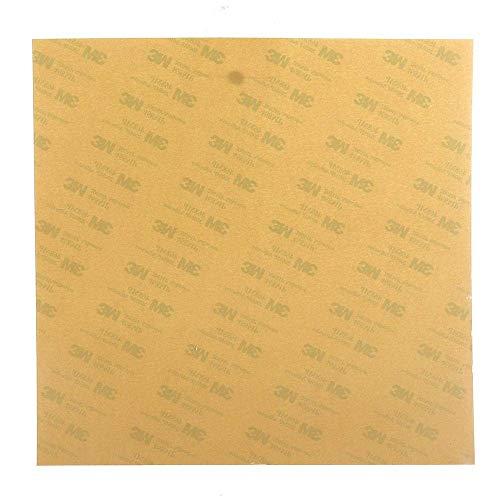 Yongenee Beheiztes Bett PEI-Blatt mit Kleber 235 x 235 mm für Ender-3 3D-Drucker 3D-Drucker Zubehör Zubehör