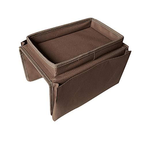 YUOKI99 - Organizer per bracciolo da divano, con vassoio porta tazza, DVD, occhiali, TV, riviste, comodino, multifunzione, per cellulare, sedia a casa, divano, tessuto Oxford, snack (caffè)