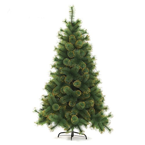 XF Christmas Tree-Artificial Christmas Tree All Occasions Green Color Pine Needle Tree with Metal Bracket //