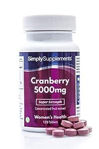 Arándanos rojos 5000mg - Apto para veganos - 120 comprimidos - Simply Supplements