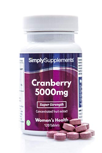 Cranberry Tablets 5000mg | High Strength Cranberry Extract | Vegan & Vegetarian Friendly | Now with Vitamin C for Immune Support | 120 Tablets = Up to 4 Month Supply | Manufactured in The UK