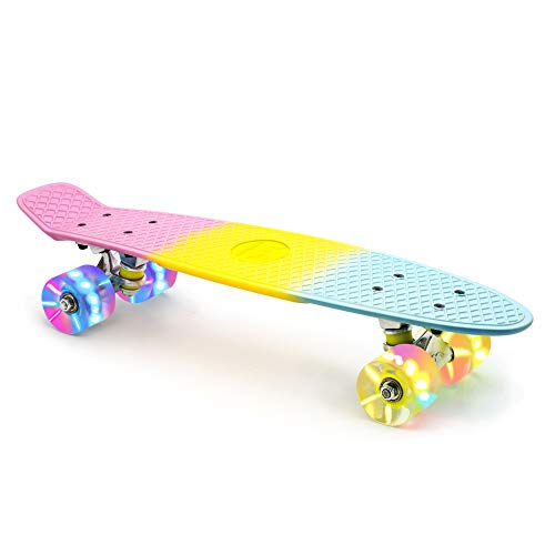 M Merkapa Skateboards with Colorful LED Skateboard Wheels - Great...