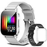 Smart Watch 1.4 Inch for Men Women, Fitness Tracker with Heart Rate Monitor with Music Control, IP67 Waterproof Fitness Watch with Pedometer, Smartwatch Compatible with iOS Android (Gray)