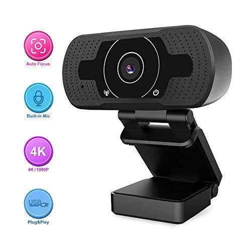 HD Webcam, Hyrayzan Auto Focus 8MP /1080P Webcam with Microphone, Streaming USB Webcam,Computer...