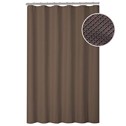 Good Sun Shower Curtain Set with Hotel Quality Polyester Shower Curtain with Waffle Weave and 12 Non-Rusting Metal Roller Hooks for Bathroom Showers and Bathtubs - 72
