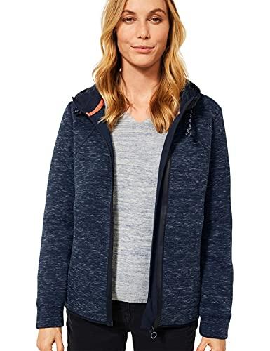 Cecil Damen 253231 Strickjacke, Denim Blue Heather Melange, XL