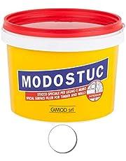 Originele MODOSTUC houten stopverf - 1 kg gebruiksklare vulmassa voor hout & muur, houtvuller, perfecte kleefkracht & sneldrogend, ideaal voor het herstellen van houtschade, kleur wit.