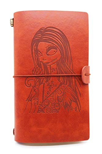Leather Journal – The Nightmare Before Christmas, Gifts for Friends, Son, Daughter, Cousins, Sisters – 1 Set(JNL- N-Nightgirl)