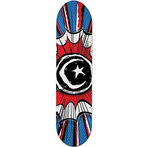 Foundation Herren Skateboard Deck Star & Moon Comic - blue-red-white , Größe:8